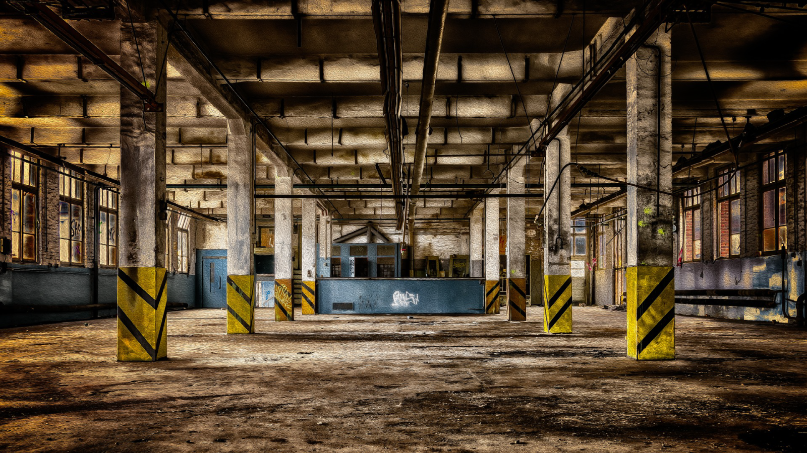Photo of abandoned factory.